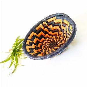 Coiled handcrafted basket from Uganda